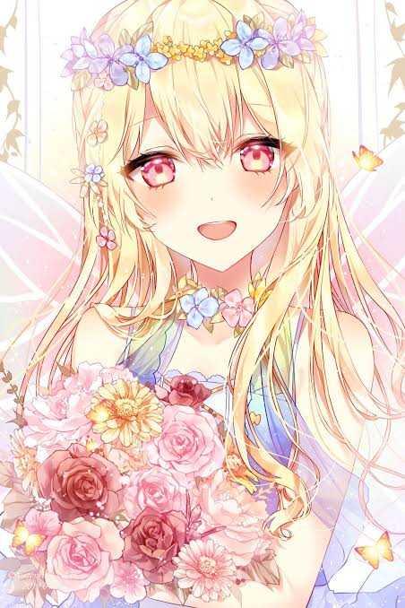 بنت مع زهور في غاية الجمال