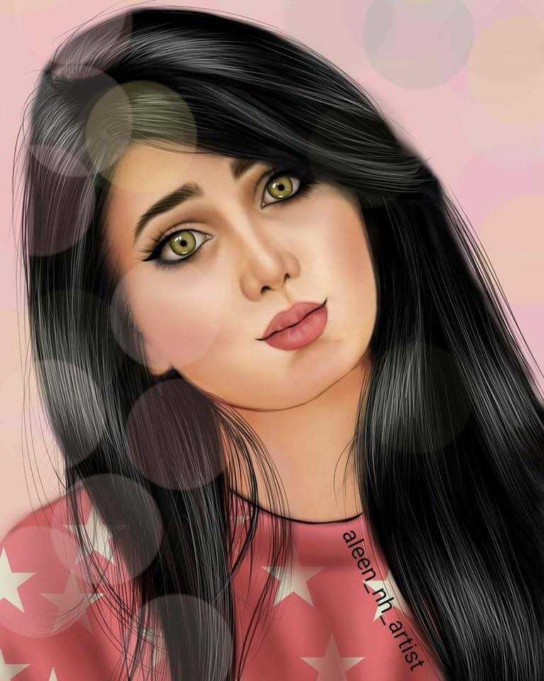 صور بنات رسم ـ اجمل رسومات بنات كيوت في غاية الروعة