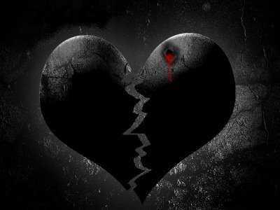 صور قلب اسود متكسر