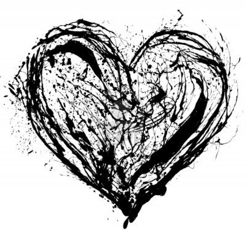صور قلوب سوداء