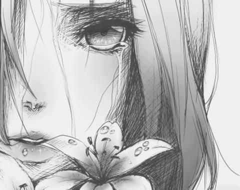 رسومات بنات حزينة ـ اجمل صور رسم بنات حزينه