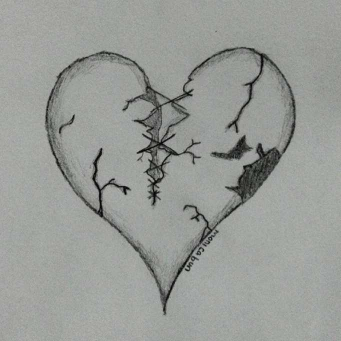 رسومات حزينة ـ اجمل صور رسم حزين بالرصاص ـ رسم انمي حزين