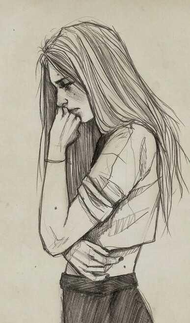 رسم حزين