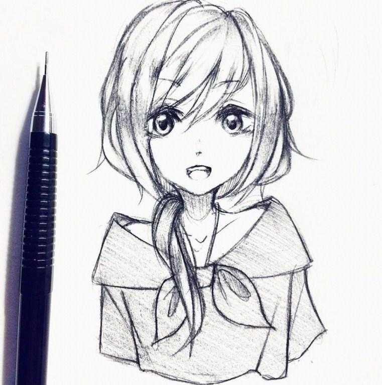 رسم بنات انمي ـ اجمل رسومات بنات الانمي