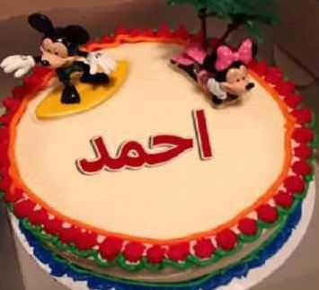 تورتة عيد ميلاد باسم احمد